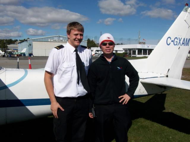 Keaton Giles and his instructor Jeff Davy
