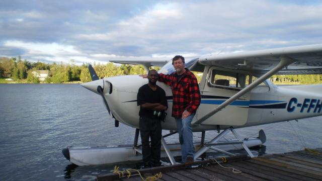 Steven Blackwood after his Float Plane solo.