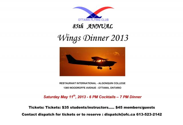 85th Annual Wings Dinner